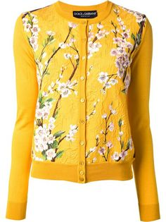 DOLCE and GABBANA Floral Print Cardigan