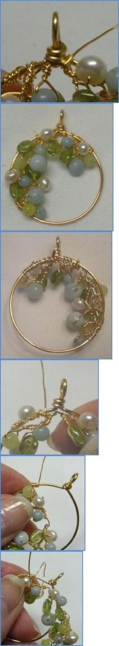 Spring Garland Wire Wrapped Earrings Tutorial by SuzyRea