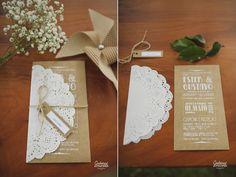 Ideias de convites de casamentos e cartõezinhos.