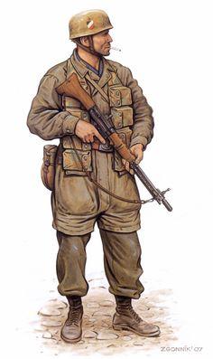 Jäger, 1.Fallschirmjäger- Division, Monte Cassino, May 1944