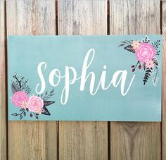 Fl Nursery Sign Name Vintage Inspired By Studio10b Signs
