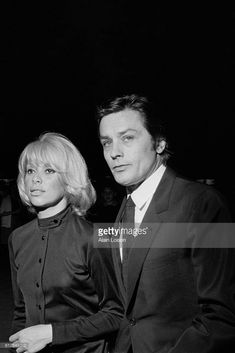 French actors and partners Mireille Darc and Alain Delon attend the premiere of the movie La Sirene du Mississipi, written and directed by Francois Truffaut.