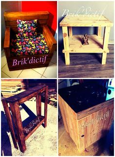 Pallet Armchair And Other Small Furnitures #PalletFurniture, #RecycledPallet