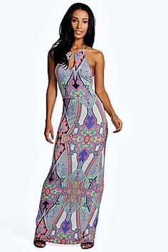 dffd2bca987d Boohoo: Penny Keyhole Paisley Maxi Dress Long Sleeve Maxi, White Maxi,  Jumper Dress