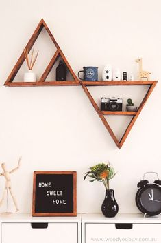 rustic triangle shelves for your home decor  #rustic #triangle shelves #shelf