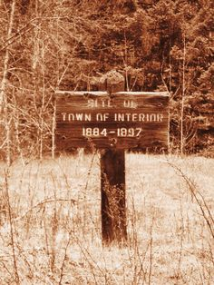 An old abandoned town sign out in the woods not to far from where we live