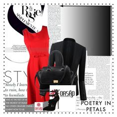 """""""Oasap red"""" by amra-piric ❤ liked on Polyvore featuring Whiteley and oasap"""
