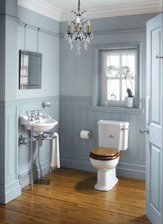 badezimmer design viktorianischen stil dielenboden waschtisch