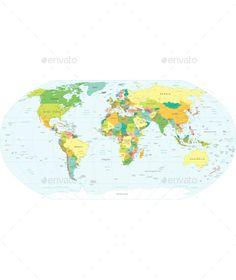 World Map Vector EPS. Download here: https://graphicriver.net/item/world-map/12823821?ref=ksioks