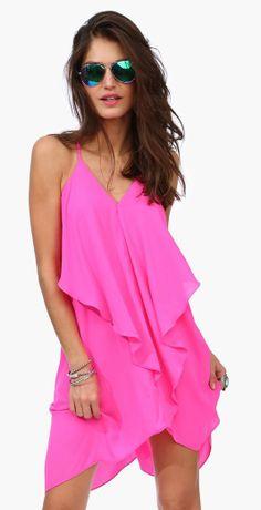 Olivia #neon #pink dress