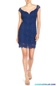 En Dikkat Çeken 2017 Gece Elbiseleri Ve Abiye Modelleri – Elbise Modelleri – Off the Shoulder Lace Body-Con Dress