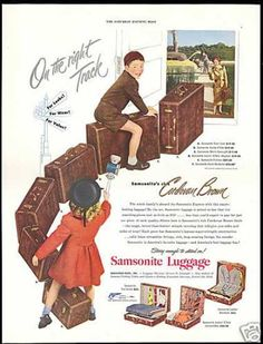 Samsonite Cordovan Brown Luggage Vintage (1949)