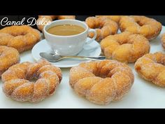YouTube Homemade Donuts, No Bake Pies, Donut Recipes, Doughnut, Breakfast Recipes, Biscuits, Bread, Cookies, Baking