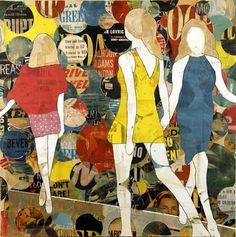 Runway Girls and Circles by Jane Maxwell #art #fashion #mixedmedia