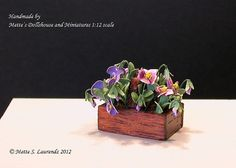 Dollhouse Miniature flower 112  Purple and Pink by mettelaurendz