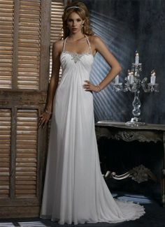 Free shipping Chiffon and Satin Beach Wedding Dresses any size color  wholesale retail on 36c2f59139a8