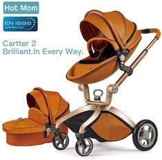 c4172a72fc Hot Mom Cochecito de Bebe 2017 Multifuncional Sistemas de viaje, buenos  amortiguadores, asiento regulable