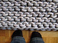 garter stitch giant rug
