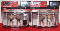 2 packs UFC 'Ultimate Micro Fighters' Series 2, Total of 4 male fighters & props #JAXXS