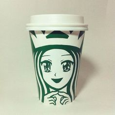 Korean artist Soo Min Kim draws unique artworks on Starbucks coffee cups. Iconic Starbucks logo is the starting point for each drawing / illustration. Its a very interesting take on the original logo Starbucks Funny, Starbucks Crafts, Starbucks Cup Art, Starbucks Logo, Starbucks Cup Drawing, Starbucks Coffee Cups, Coffee Cup Art, Starbucks Drinks, Interesting Drawings