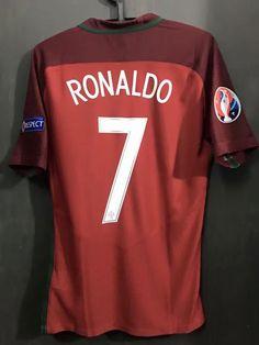 849167efa Euro 2016 Final Cristiano Ronaldo 7 Match Issue Red Soccer Jersey Football  Shirt Camiseta De Fútbol Voetbal Jersey Maillot De Foot Fußball Trikot  Maglietta ...