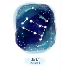"Ivy Bronx Calixta Gemini Stretched Canvas Art Size: 24"" H x 18"" W"