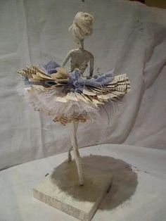 A ballerina sculpture. Wire frame. Beautiful pose.