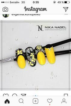 New Nails Acrylic Yellow Art Designs Ideas Yellow Nail Art, Floral Nail Art, Nail Art Blog, Nail Art Hacks, Stylish Nails, Trendy Nails, Best Acrylic Nails, Nail Polish Art, Dream Nails