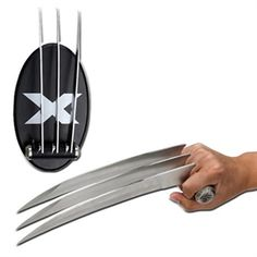 X-Men Wolverine Claws Heavy Metal Blades - 1 Claw w /Plaque Marvel Comics Apocalypse, Ninja Gear, Ninja Weapons, Throwing Knives, Survival Tools, Knives And Swords, Cool Toys, Firearms, Just In Case