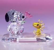 Snoopy & Woodstock Fine Crystal Figurine by Crystal World