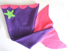 DIY Mermaid Tail Blanket-I am going to double the fin pieces so they are more stable...