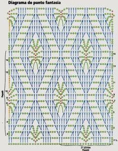 Crochet and arts: Crochet bag Crochet Stitches Chart, Crochet Motif Patterns, Granny Square Crochet Pattern, Crochet Diagram, Crochet Designs, Stitch Patterns, Knitting Patterns, Crochet Scarves, Crochet Clothes