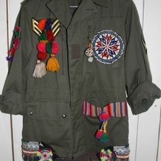 Tribal embellished Vintage Jackets by Gypsy River.. Adore!!