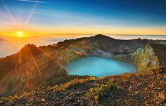 Vulcão Kelimutu, ilha das Flores, Indonésia