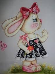 Resultado de imagem para desenhos de coelhos de pascoa para pintar em tecido