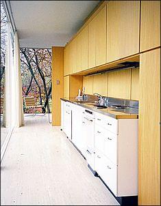 kitchen, Farnsworth House, Chicago, Illinois, 1945-1951. Architect: Mies van der Rohe