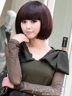 Fashion Short Silky Straight Kanekalon Wig Hairpiece Skin Top Design