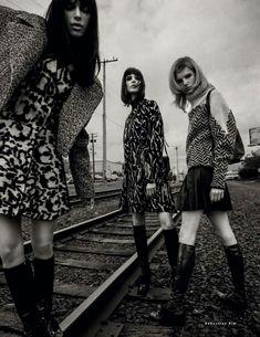 Kate Goodling, Pamela Bernier, Anmari Botha by Sebastian Kim For Vogue Russia September 2014