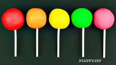 Learn Colours with Play Doh Surprise Lollipops Play & Learn Toy Fun for Children - YouTube