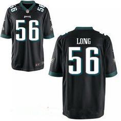 Men's Philadelphia Eagles #56 Chris Long Black Alternate Stitched NFL Nike Elite Jersey