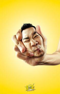 """Sour Lemon Candy: Face Squeeze, Boy"" gefunden auf http://adsoftheworld.com gepinned von der Hamburger Werbeagentur BlickeDeeler - www.BlickeDeeler.de"