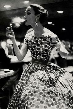 Harper's Bazaar Magazine, April 1957 24 hours fashion  Photo by Lillian Bassman