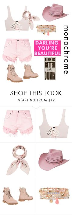 """""""Pink-life Is Better In The Country"""" by av-leigh ❤ liked on Polyvore featuring GaÃ«lle Bonheur, Puma, Manipuri, Silverado, RED Valentino, Accessorize and country"""