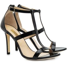 Dee keller - Marlee t-strap heels ($275) ❤ liked on Polyvore featuring shoes, pumps, heels, stiletto high heel shoes, stiletto heel pumps, caged shoes, heels stilettos and caged pumps