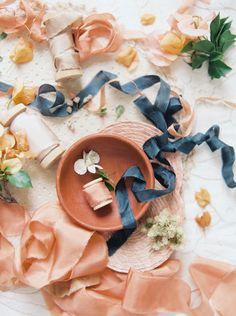 Festive Peach and Gold Wedding Ideas