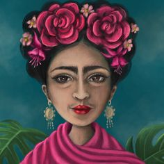 My interpretation of Frida Kahlo #promptparty!  I've wanted to draw Frida for a while and the historical figure prompt was the perfect excuse. Swipe for full image #makeartthatsells #promptparty #frida #fridakahlo #illustration #illustratorsoninstagram #illustratorsofinstagram