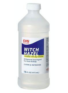 16 oz. witch hazel + 12 drops lavender essential oil = facial toner