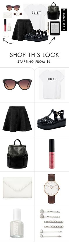 """Summer #1"" by luludedid on Polyvore featuring mode, MANGO, NYX, Neiman Marcus, Daniel Wellington, Essie, Elle et Parker"