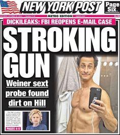 #HillarysEmails #FBImWithHer? #DickiLeaks #StrokingGun Cover 10/29 http://ift.tt/2foYckg