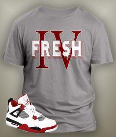 231517feff0764 T Shirt To Match Retro Air Jordan 4 Shoe Custom Mens Tee Design Sizing S M  L XL. Vegas Big and Tall